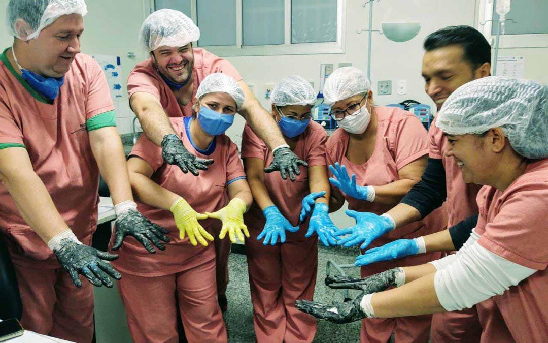 Colaboradores do HURSO recebem treinamento sobre Higiene das Mãos